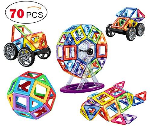 agnetic Blocks Building Toys Plates for Kids(70 Pieces) (Magnetic Building Tiles)