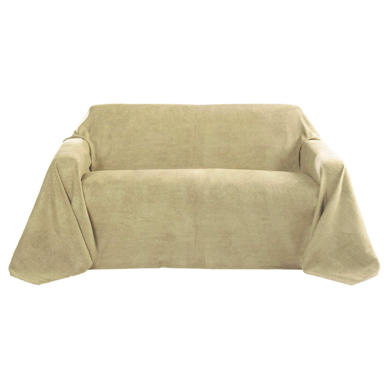 Beautissu Romantica Decke 210x280cm In Wildleder Optik Als Sofa Überwurf  Tagesdecke Plaid In Natur: Amazon.de: Küche U0026 Haushalt