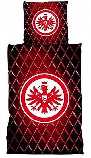 Bertels 1051917 Eintracht Frankfurt Bettwäsche Linon Strucktur