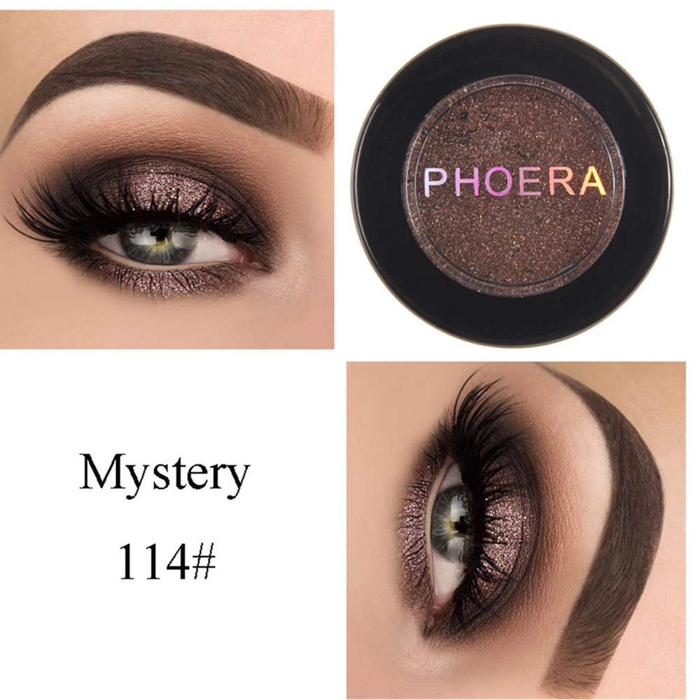 ❤️ Sunbona ❤️ Clearance Sale PHOERA Eye Shadow Glitter Shimmering Colors Eyeshadow Metallic Eye Cosmetic (N)