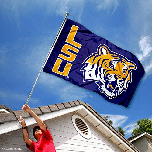 Louisiana State LSU Tigers Double Sided Flag College Flags and Banners Co