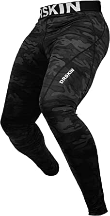 DRSKIN 1, 2 or 3 Pack Men's Compression Pants Tights Leggings Dry Sports Baselayer Running Workout Yoga Thermal Winter