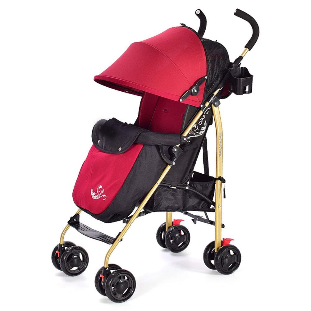 5ポイントの安全性を備えた軽量の抱擁付きベビーカートラベルシステム  red B07PFTY12F