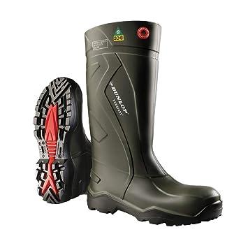 Amazon.com  Dunlop Purofort+ full safety Green Black Shoes E762943 ... 9224e2fea9e8