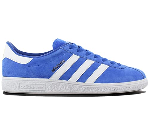 on sale 7f0d6 0e5e1 adidas Originals München Leather Calzature Sportive Blu Scarpe da Uomo  Sneaker Amazon.it Scarpe e borse