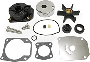 Full Power Plus 40-60 HP Johnson Evinrude Water Pump Impeller Rebuild Kit Replacement with Housing 5000308