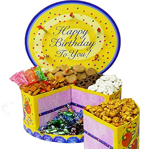 Lift Off Presentation Box (Happy Birthday To You Cake Shaped Gift Box of Treats)