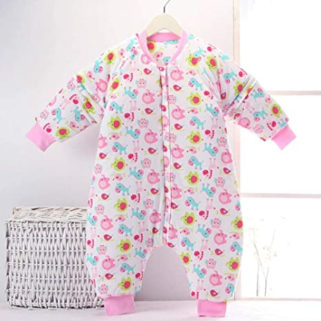 CWLLWC Saco de Dormir para bebé,Otoño e Invierno Espesar cálida Colcha Anti-Pajarita