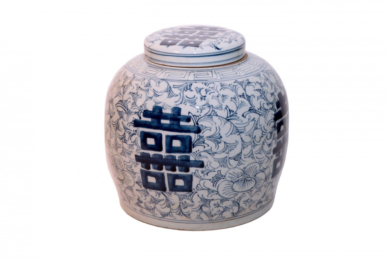 Antique Blue And White Ginger Jar by Oriental Furnishings