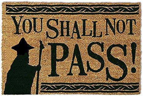 DOORMAT YOU SHALL NOT PASS THE LORD OF THE RINGS DOOR // FLOOR MAT