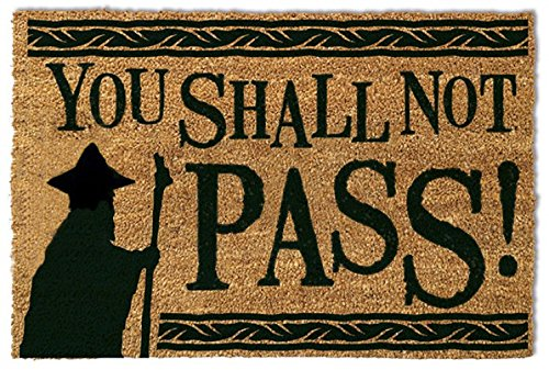 1art1 The Lord of The Rings Door Mat Floor Mat - You Shall Not Pass (24 x 16 inches)