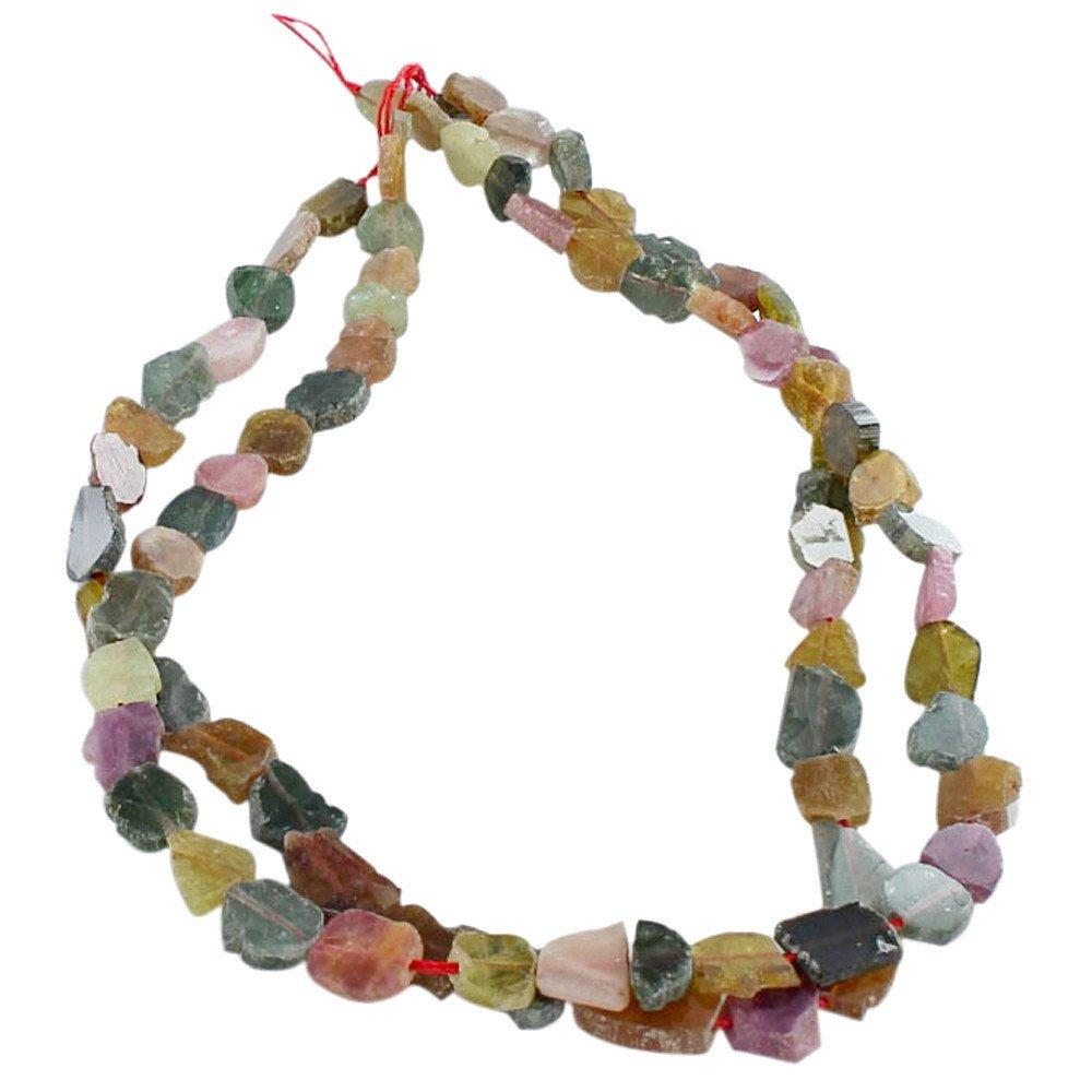 toma TURMALINA lado lado lado perforado Beads Slica Rosa Verde  conveniente