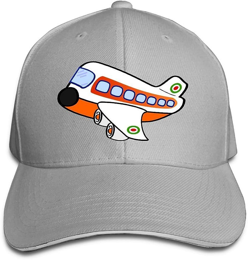 Unisex Red Airplane Funny Art Sandwich Peaked Cap Adjustable Cotton Baseball Caps