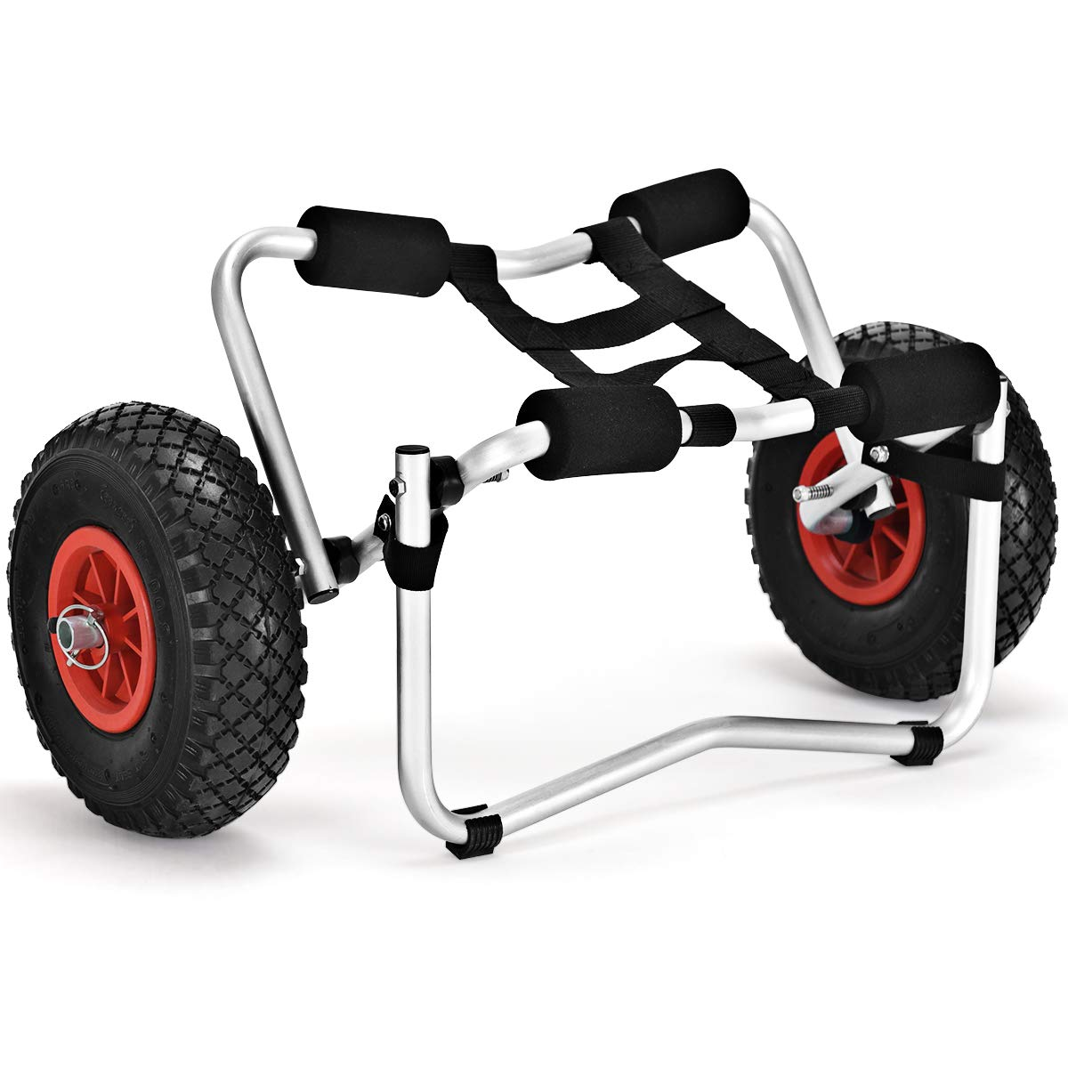 Giantex Kayak Cart New Aluminum Kayak Jon Boat Canoe Gear Trolley W/Wheels, Large Load Capacity, Solid Frame Dolly Cart by Giantex