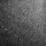 "Tools & Hardware : EZ FAUX DECOR Soapstone Countertop Look: Dark Gray Soapstone Countertop Peel and Stick Faux Stone 72""x 36"" DIY Counter Top Not Grandma's Contact Paper Premium Peel and Stick"