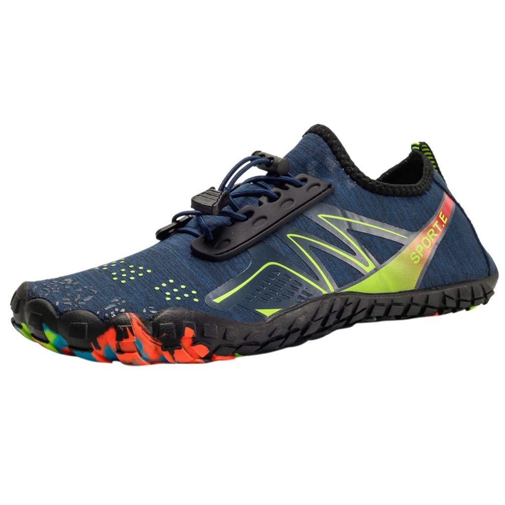 [Qisc_Shoes] メンズ US Size : 6.5 ブルー B07Q86N7T9