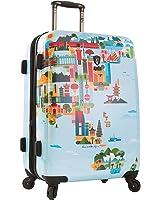 """Heys America FVT 26"""" Spinner Luggage (World Map)"""