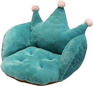 ARTBECK Chair Cushion Plush Faux Rabbit Fur Crown Desk Chair Cushion Soft Thicken Seat Pads Cushion Chair Pad for Office, Chair, Home or Car Sitting (Green, 22W x 16L x 16H)