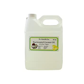 Fractionated Coconut Oil Pure Organic Raw by Dr Adorable 32 Oz/1 Quart