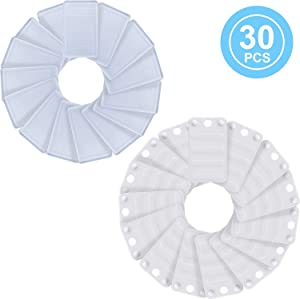 30 Pieces Plastic Shims Soft Furniture Leveling Shims Plastic Construction Shims for Toilet, Doors, Window, Desks, Chairs, Nightstands, Home Office Furniture, Outdoor and Indoor Furniture, 2 Styles
