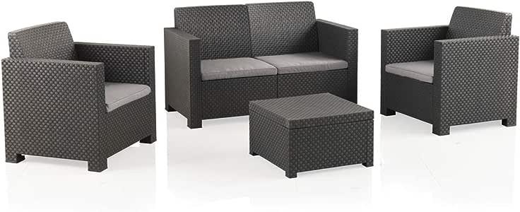 Shaf EVO Conjunto Muebles Sofá 2 Plazas + 2 Sillones, Antracita ...