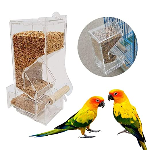 JTKDL Comedero for pájaros Duradero y se desmonta for una Limpieza ...