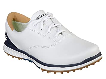 2f3c144019070 Skechers 2018 GO Golf Elite 2 Womens Spikeless Leather Shoes 14866  White Navy 4.5UK