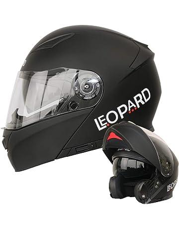 f646573a1b430 Leopard LEO-888 DVS - Casco Modular de Motocicleta con Visera Doble