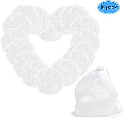 Discos Desmaquillantes Reutilizables - Almohadillas lavables de ...