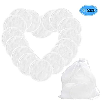 Discos Desmaquillantes Reutilizables - Almohadillas lavables de algodón de bambú, discos Desmaquillantes, Almohadilla de