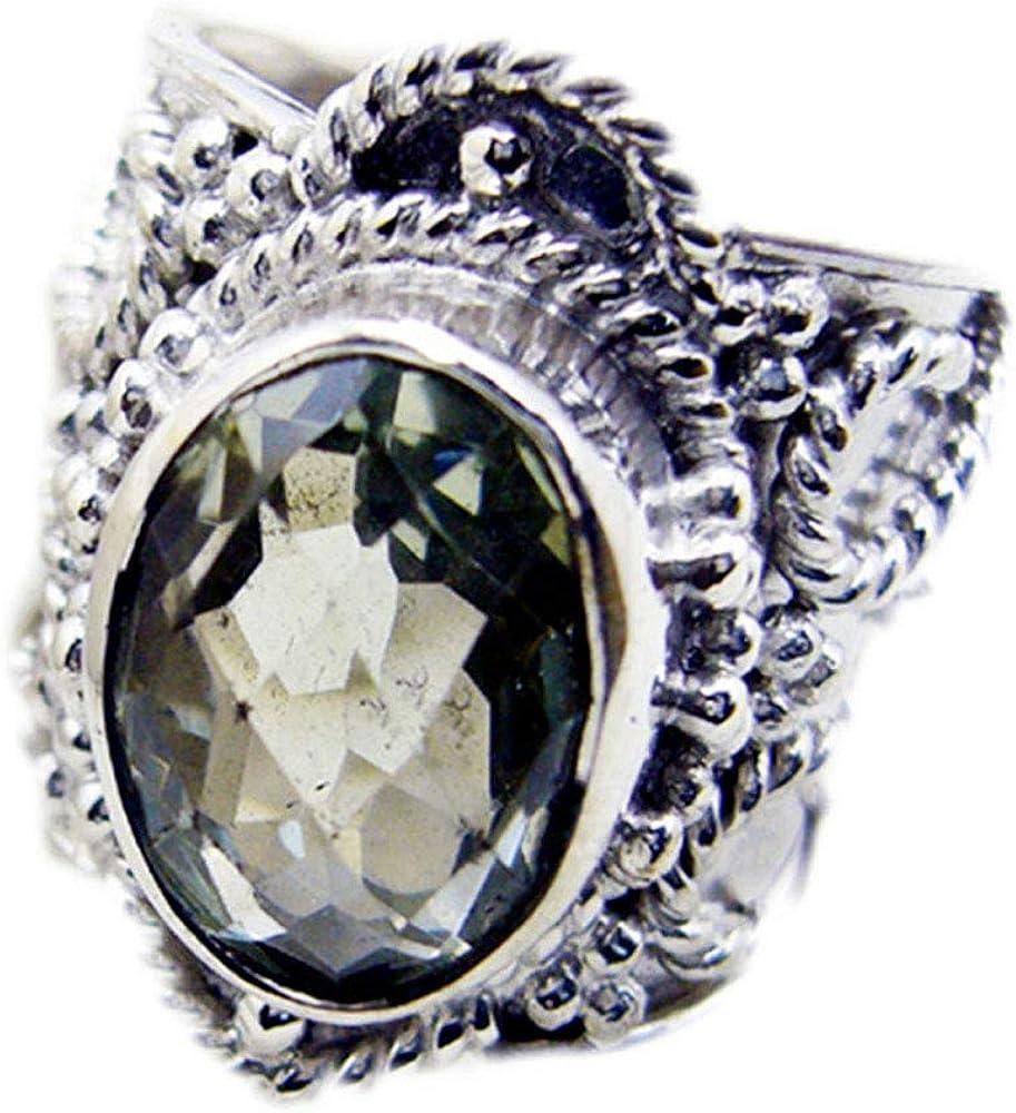 55Carat Green Vintage Amethyst Ring Sterling Silver Oval Cut Birthstone Handmade Size 5,6,7,8,9,10,11,12