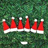 Tcplyn Premium Quality Christmas Ornaments Mini Christmas hat Christmas Lollipop hat Christmas Non-Woven Small hat