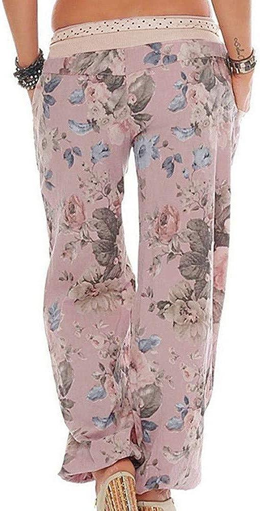 Pantalones De Pijama Pantalones Playeros De Verano Con 2 Bolsillos Pantalones De Pierna Ancha Para Descansar