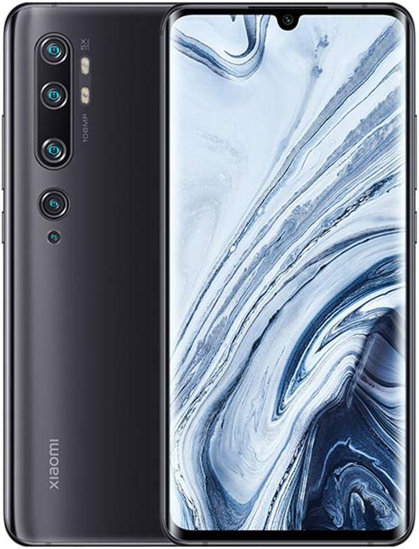 """Xiaomi Mi Note 10 Smartphone, 6GB RAM 128GB ROM, Pantalla AMOLED Curva 3D de 6.47"""", 5 Cámaras (108MP+12MP+5MP+2MP+32MP), Versión Global (Negro)"""