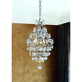Hampton bay 3 light chrome crystal tear chandelier amazon hampton bay 3 light chrome crystal tear chandelier aloadofball Choice Image