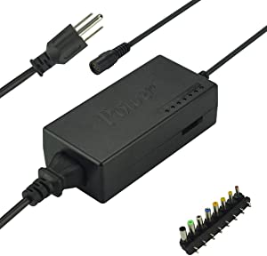Lesleyye DC 12V/15V/16V/18V/19V/20V/24V 4-5A 96W Laptop AC Universal Power Adapter Charger for Laptop