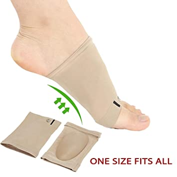 92df601b44 Arch Support Sleeves Sock with Comfort Gel Pad - Plantar Fasciitis Flat Feet  Orthotics Sleeves with