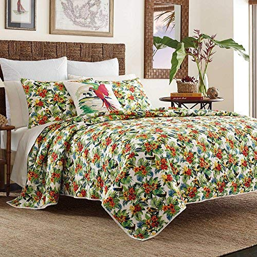 (Tommy Bahama Parrot Cove Full/Queen Quilt Multi Color 100% Cotton)