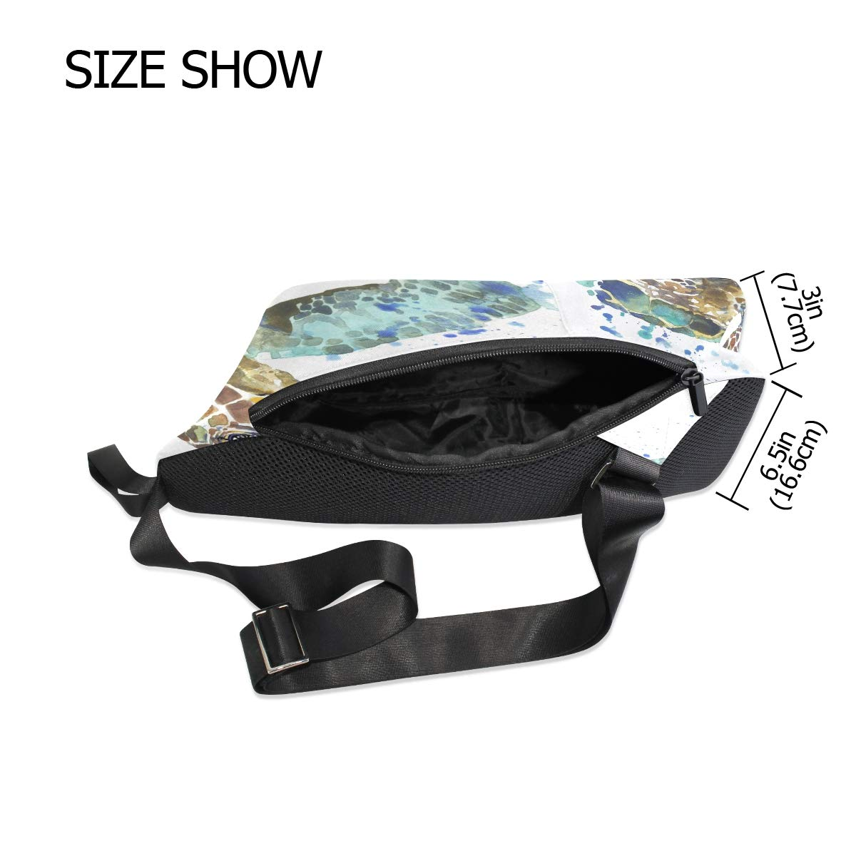 TFONE Watercolor Ocean Animal Sea Turtle Crossbody Bag Lightweight Chest Shoulder Messenger Pack Backpack Sling Bag