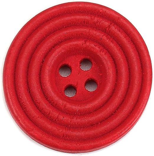 Rosa Redondo Coser Botón Plástico Chaqueta Abrigo Botón Coser en 3cm de diámetro