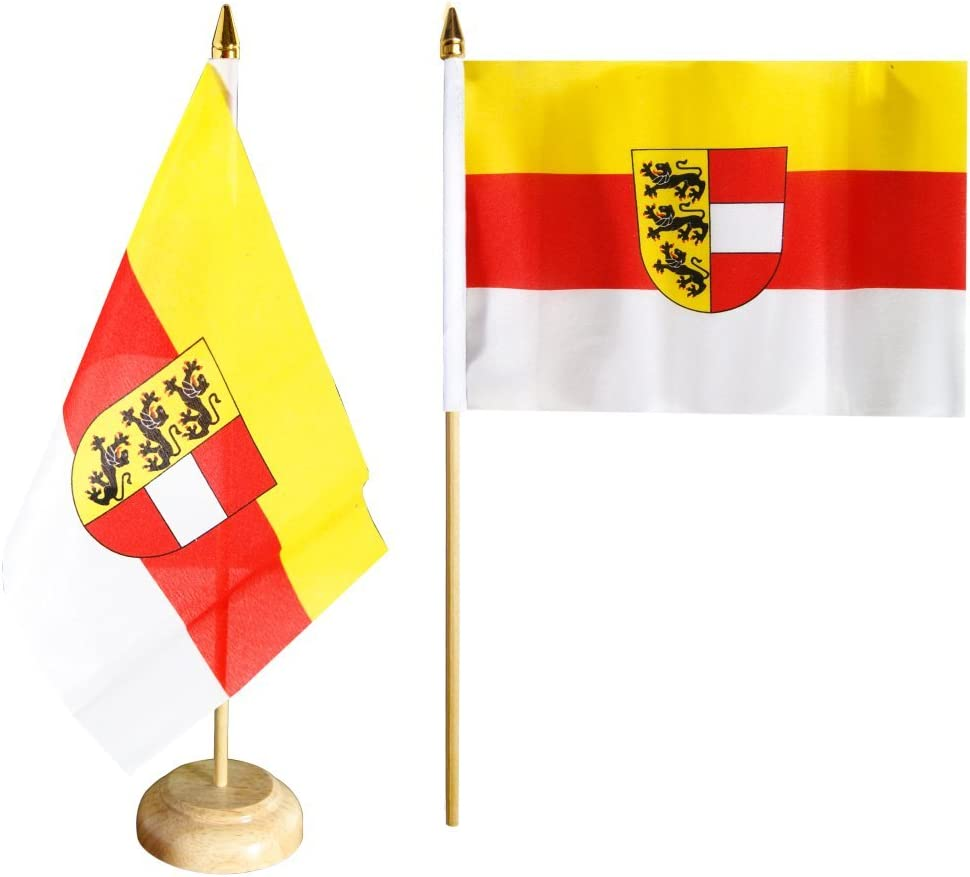 Tischfahne /Österreich K/ärnten Tischflagge gratis Aufkleber Flaggenfritze/®