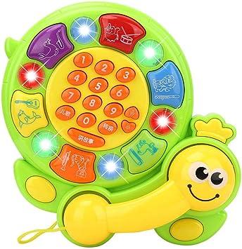 Todaytop Baby Simulation Music Telephone Infant ABS Plastic Mobile Phone Toys for Children Intellectual Hearing Development,Flip phone Skateboard phone-Random Color