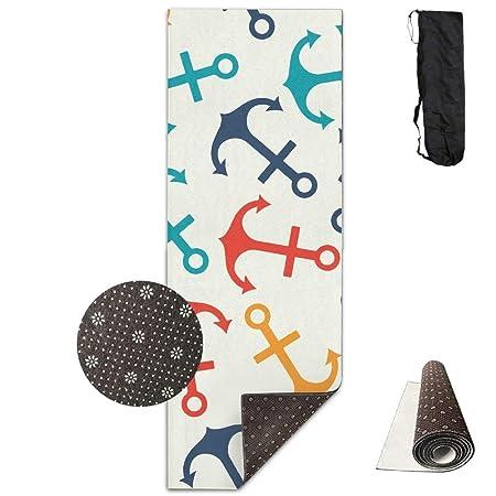 Louis Berry - Esterilla de Yoga Antideslizante con diseño de ...
