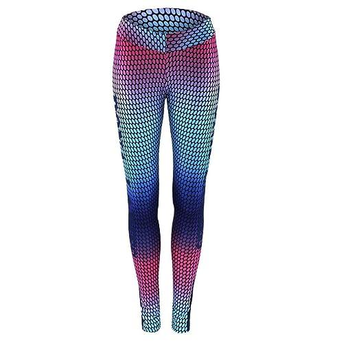 Mujer Pantalones De Yoga SMARTLADY Cintura Alta Fitness Leggings De Impresos Para Deportivos Y EláSticos