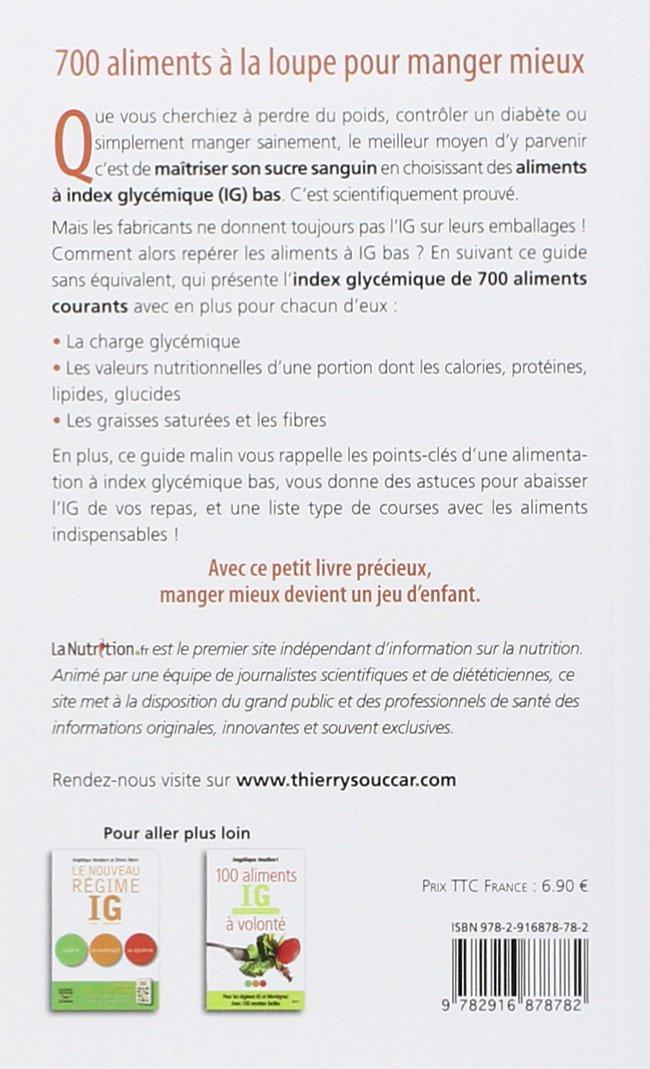 Amazon Fr Guide Des Index Glycemiques Ig Et Valeurs Nutritionnelles Charge Glycemique Calories Graisses Fibres Lanutrition Fr Livres