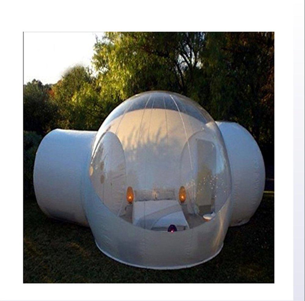 Outdoor-Tunnel Hinterhof Durchsichtige Luft Kuppelzelt, Single Aufblasbare Bubble Zelthaus Home Camping mit Gebläsen und Reparatur Ausrüstung.