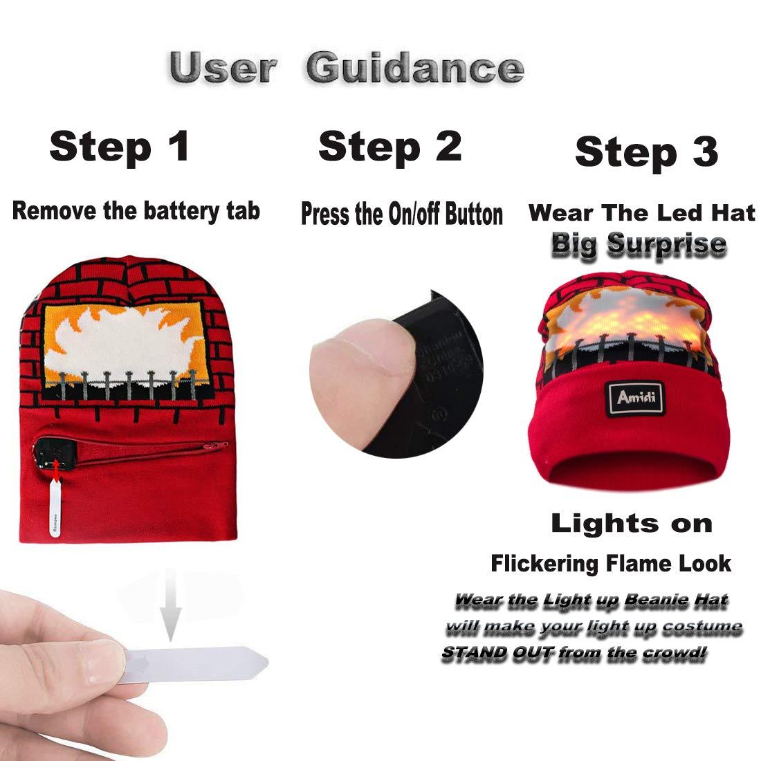 Amazon.com  Fairytaloid Flickering Flames Light Up Hat a75fb826bf8e