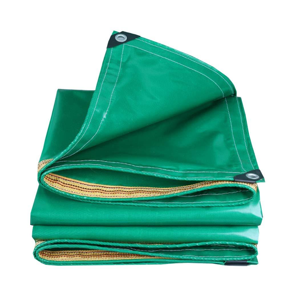 YX-Planen Doppelseitige PVC-Plane Grün Mehrzweck Reversible Waterproof Thick - 100% wasserdicht und UV-geschützt - Dicke 0,35 mm, 350 g m²