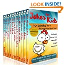 Jokes for Kids - 10 in 1 Box Set PLUS 'Knock Knock Jokes for Kids' Book. Short, Funny, Clean and Corny Kid's Jokes - Fun with the Funniest Lame Jokes for all the Family.