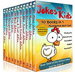 Jokes for Kids - 10 in 1 Box Set PLUS 'Knock Knock Jokes for Kids' Book. Short, Funny, Clean and Corny Kid's Jokes - Fun with the Funniest Lame Jokes for all the Family. by [Grinning, IP]